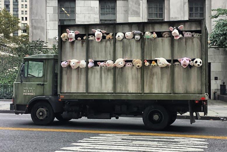 banksy truck nova york e voce
