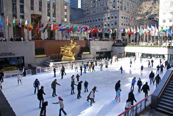 new-york-city-rockefeller-center-patinacao no gelo