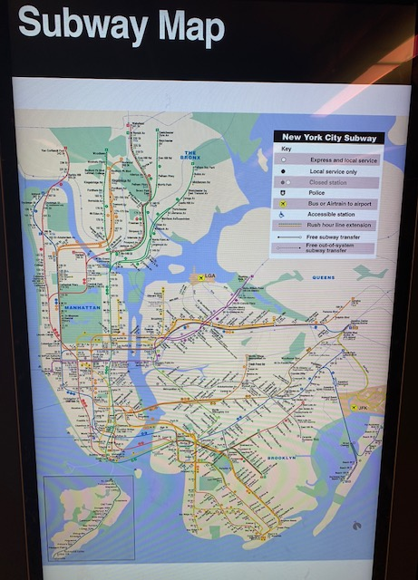 Mapa Metrô de Nova York