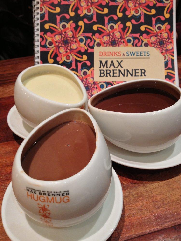 Em dias frios, tomar um dos chocolates quentes da Max Brenner é uma ótima opção de sobremesas em Nova York em