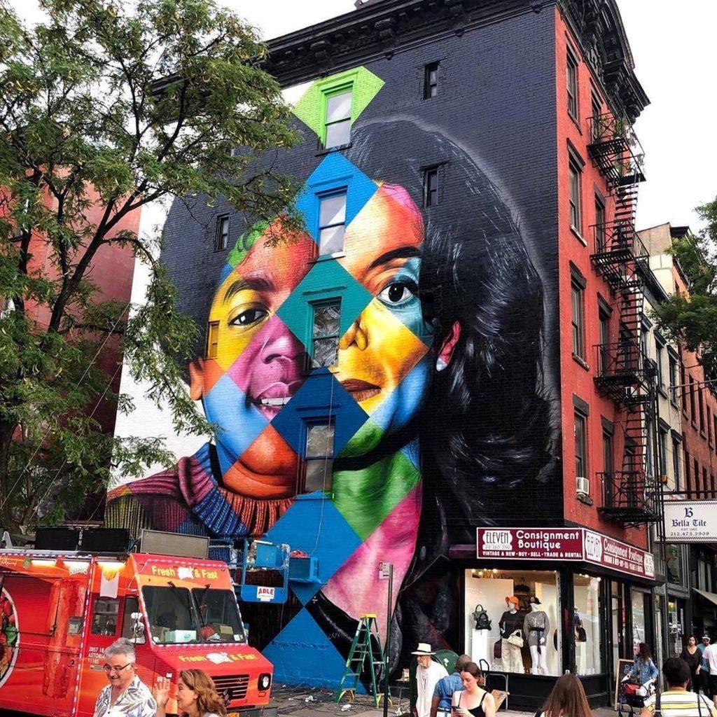 Black & White, retrata duas fases de Michael Jackson é um dos murais do Kobra em Nova York