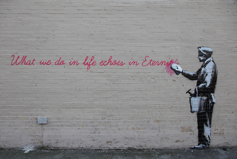 Banksy QUEENS 14-10 nova york e voce