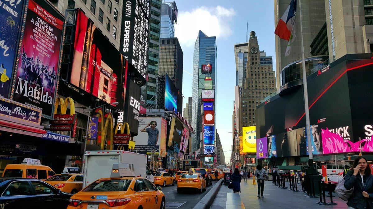O que é a Times Square em Nova York?