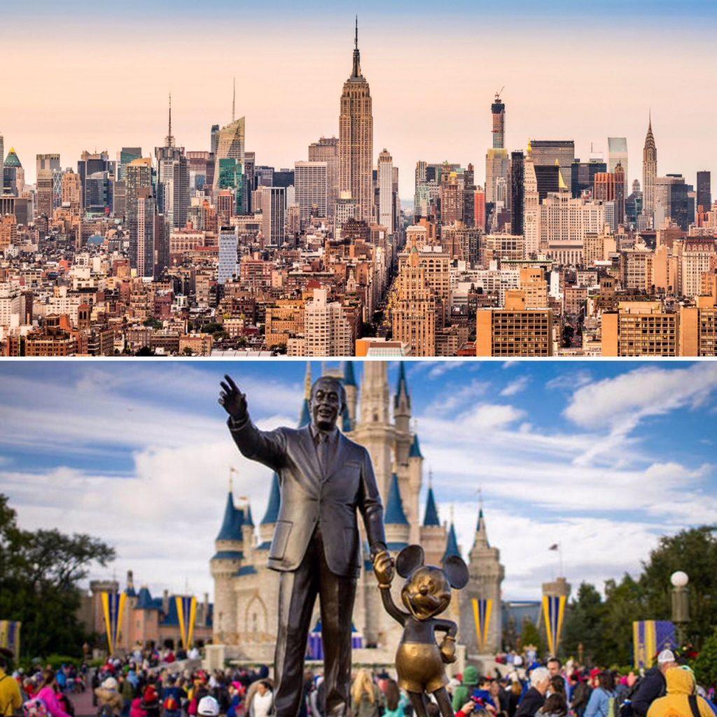 Orlando e Nova York