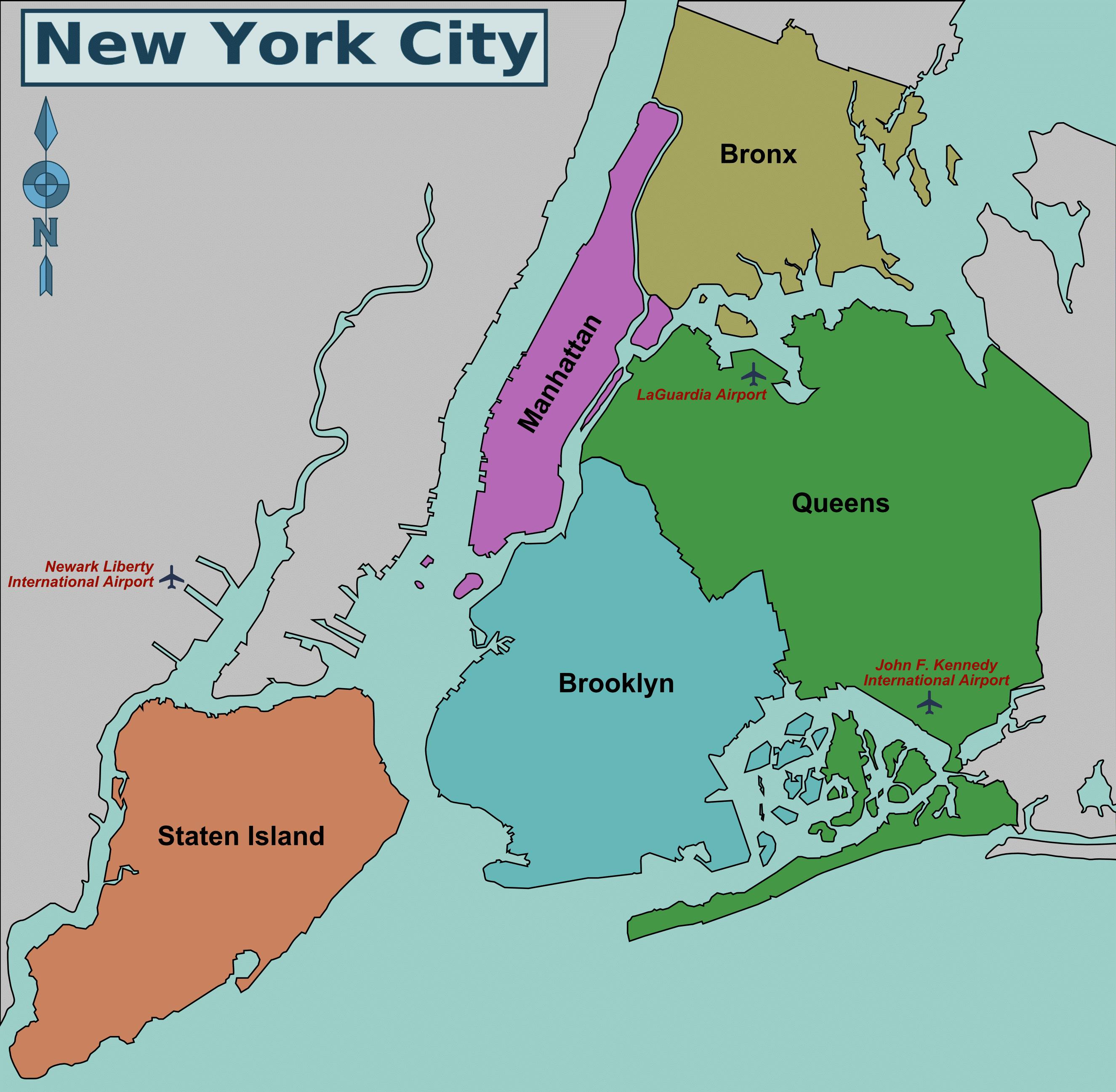 distritos de nova york - boroughs of new york
