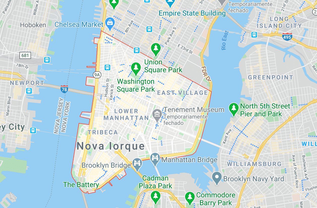 Downtown Manhattan em Nova York