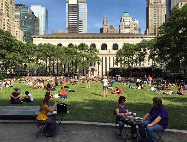 Atrações gratuitas em Nova York - Bryant Park